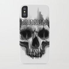 Aztec skull iPhone X Slim Case