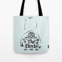 The Birds, Alfred Hitchcock, alternative movie poster, minimal playbill, Tippi Hedren, horror film Tote Bag