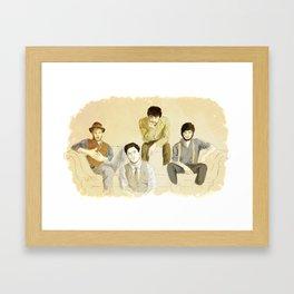 Folk band Framed Art Print