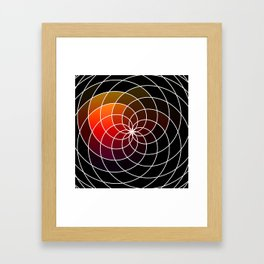 Dark Kaleidoscope Framed Art Print