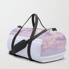 Dreamy Pastel Sky on Violet Duffle Bag