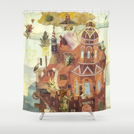 """""""Reconstruction of Cuaxies"""" Shower Curtain"""