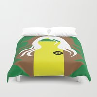 x men Duvet Covers featuring Rogue - Minimalist - X-Men by Adrian Mentus