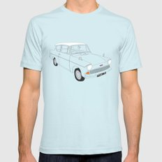 Weasley's Flying Ford Anglia LARGE Light Blue Mens Fitted Tee