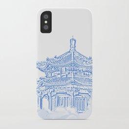 Zen temple in the cloud iPhone Case