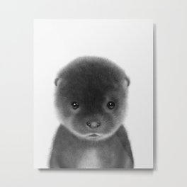 Cute Otter Metal Print