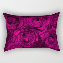 Berry Fuchsia Roses Rectangular Pillow
