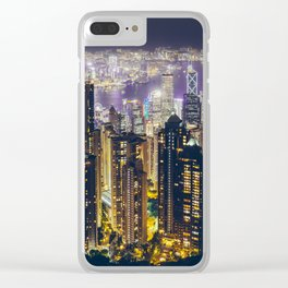Hong Kong by Clear iPhone Case