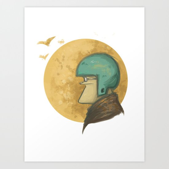 flying to the moon Art Print