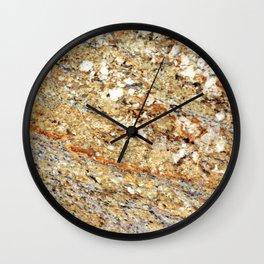 Kashmir Gold Granite Wall Clock
