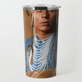 Tries His Knee - Crow American Indian Travel Mug