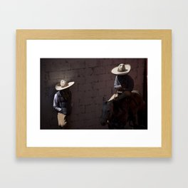 Charros meeting Framed Art Print