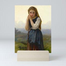 "William-Adolphe Bouguereau ""Petite bergère (The Little Shepherdess)"" Mini Art Print"