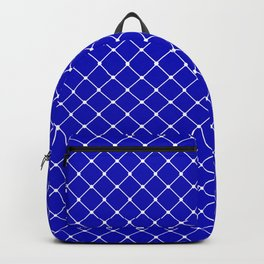 Royal Blue Classic Diagonal Grid Backpack