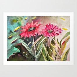 Beautiful Daisies Art Print