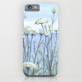 Queen Anne's lace, Watercolour iPhone Case