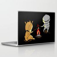 dark souls Laptop & iPad Skins featuring Bonfire Buddies - Dark Souls by Pengew
