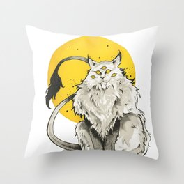 The Alien Cat Throw Pillow