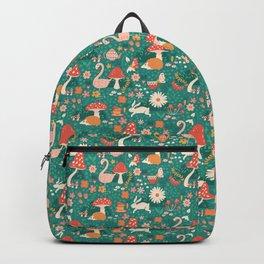 Wandering in Wonderland - Teal Backpack