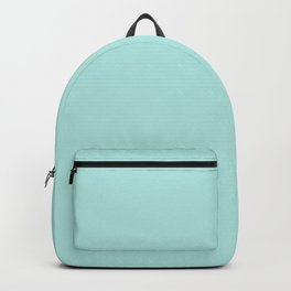 Pastel Aquamarine - Turquoise - Green Blue Solid Color Parable to Valspar Frosty 5006-9B Backpack