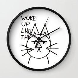 FeltTipCat - Woke Up Like This  Wall Clock