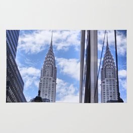 Chrysler Building Reflections in Midtown Rug