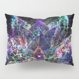 Lotus Flower Glow Pillow Sham