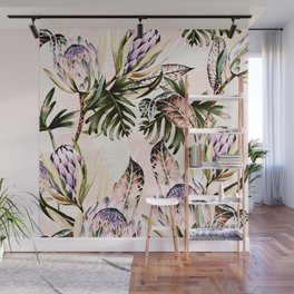 Flowering of proteas in nature Wall Mural