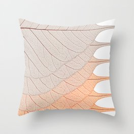 Leaves Brown Throw Pillow