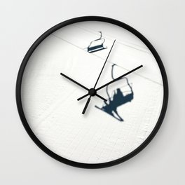 Chair lift shadow Wall Clock