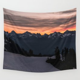 Rising Sun in the Cascades - nature photography Wall Tapestry
