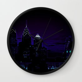 Philadelphia Cityscape Wall Clock