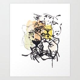 Watercolor Jaguar Art Print