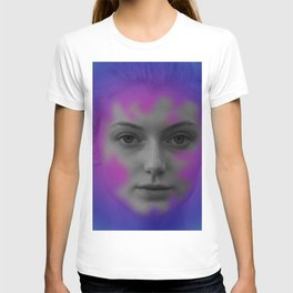 Pink and blue portrait T-shirt