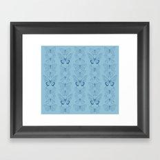 Butterfly Blues Framed Art Print