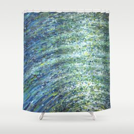 Shimmerin Ocean Wave Reflections Shower Curtain