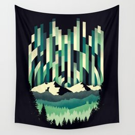 Sunrise in Vertical - Winter Blues Wall Tapestry