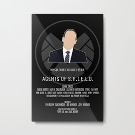 Agents of S.H.I.E.L.D. - Coulson Metal Print