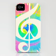 Tie Dye Music & Peace iPhone (4, 4s) Slim Case
