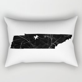 Black Marble Tennessee - Nashville Rectangular Pillow