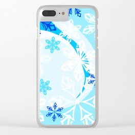 Winter Holiday Abstract Clear iPhone Case