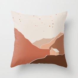 Minimal landscape stardust Throw Pillow