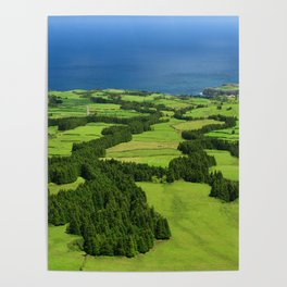 Typical Azores landscape Poster