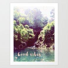 good vibes! - summer wanderlust - Art Print