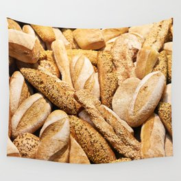 Bread baking rolls and croissants Wall Tapestry