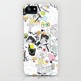 Pop Art ( Cartoon Pattern) V2 iPhone Case