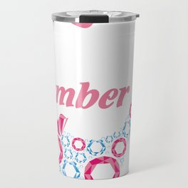 A queen was born in November, birthday art, birthday lady Travel Mug
