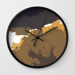 Golden Clouds Wall Clock