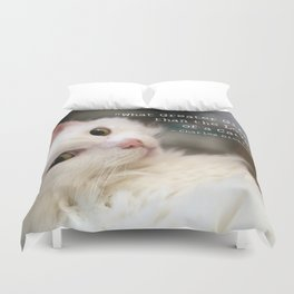 What greater gift than the Love of a Cat Duvet Cover
