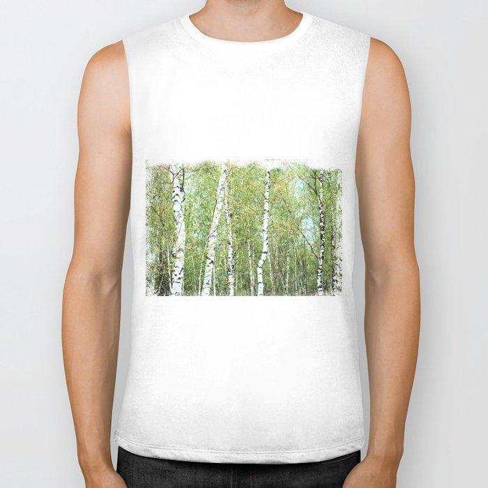 the birch forest III Biker Tank